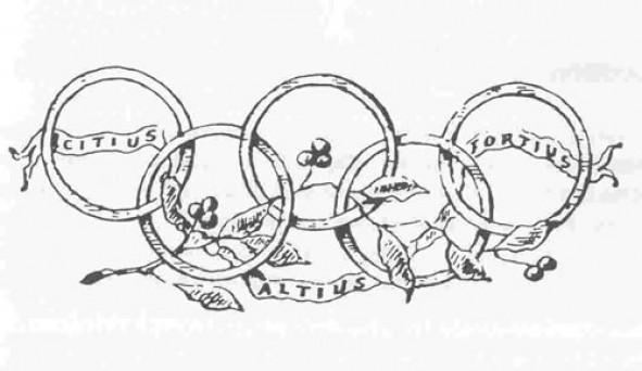 """Devise olympique :  """"Citius, Altius, Fortius"""" (« plus vite, plus haut, plus fort »). Source Image : https://cnosf.franceolympique.com/cnosf/actus/4933-la-devise-olympique.html"""